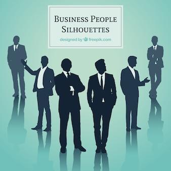 Geschäftsleuten silhouetten