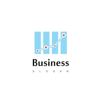 Geschäftslogo mit gutem fortschrittsdiagramm für geschäfts- oder vertriebsunternehmen