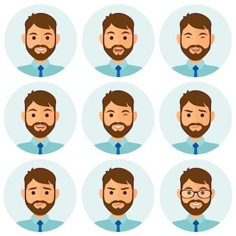 Geschäftsmann ausdrücke avatar