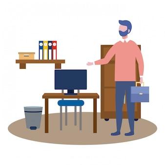 Geschäftsmann avatar cartoon