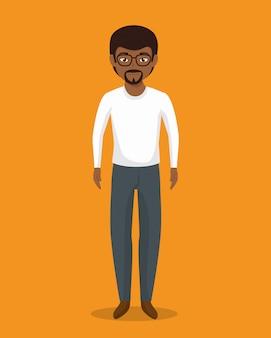 Geschäftsmann charakter avatar isoliert