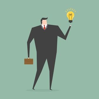 Geschäftsmann, der eine idee