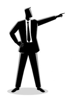 Geschäftsmann, der finger zeigt