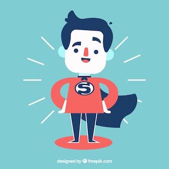 Geschäftsmann gekleidet als superheld