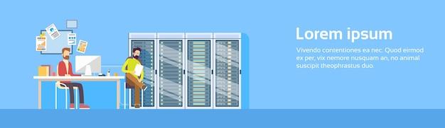 Geschäftsmann-gruppen-arbeits-computer-gerät