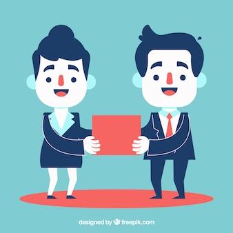 Geschäftsmann hilft seinem kollegen