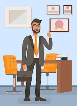 Geschäftsmann im büro