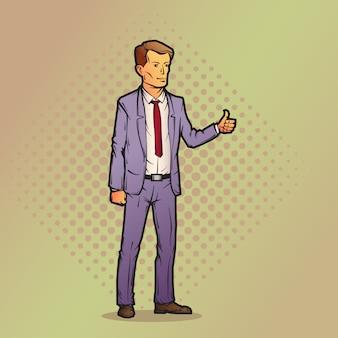 Geschäftsmann im cartoon-stil