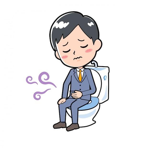 Geschäftsmann mit bauchschmerzen