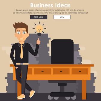 Geschäftsmann mit einem ideenkonzept