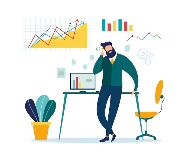 Geschäftsmann-mobile phone talk business-diskussion