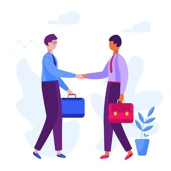 Geschäftsmann partnerschaft