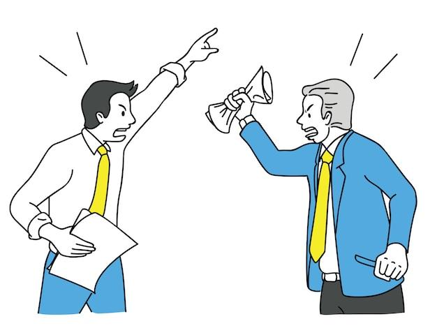 Geschäftsmann streiten und kämpfen