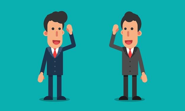 Geschäftsmann treffen sich und sprechen mit anderen