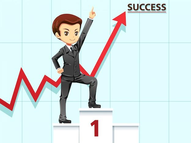 Geschäftsmann, um die nummer eins erfolgreich zu sein