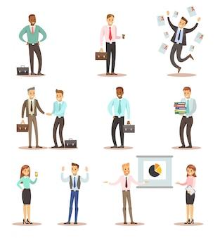 Geschäftsmann- und frauencharakterauslegung 2