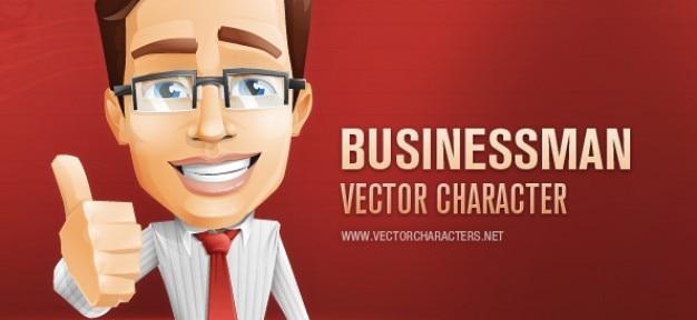 Geschäftsmann vektor-zeichen