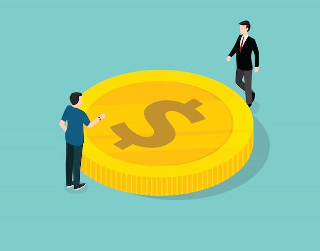 Geschäftsmann verwalten und diskutieren über finanzen
