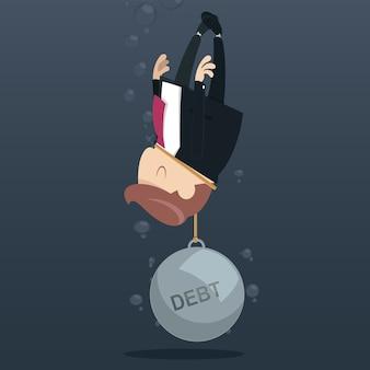 Geschäftsmannberufung für hilfe, weil schuld wiegen.