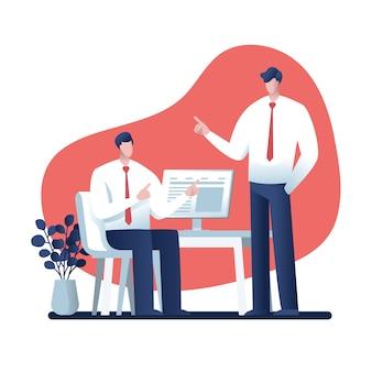 Geschäftsmanncharakterdesign, online-geschäft
