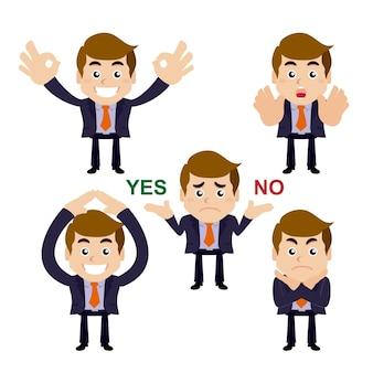 Geschäftsmanncharaktere ja oder nein