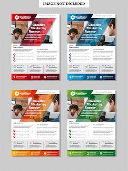 Geschäftsmarketing-broschüre