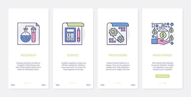 Geschäftsmarktforschung, um geld illustration zu verdienen