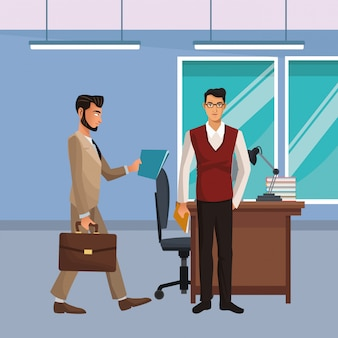 Geschäftsmitarbeiter führungskräfte cartoon