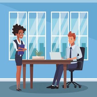 Geschäftsmitarbeiter im büro