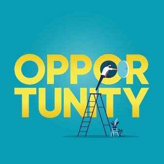 Geschäftsmöglichkeit oder karriereerfolgskonzept
