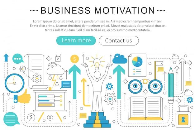 Geschäftsmotivationsdisziplin-konzept
