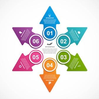 Geschäftsoptionen infografik, zeitleiste, designvorlage.