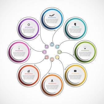 Geschäftsoptionen infografiken.