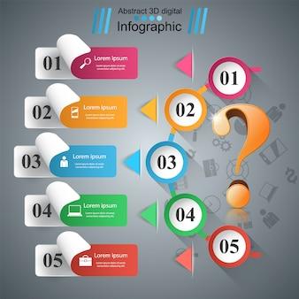 Geschäftspapier infografiken