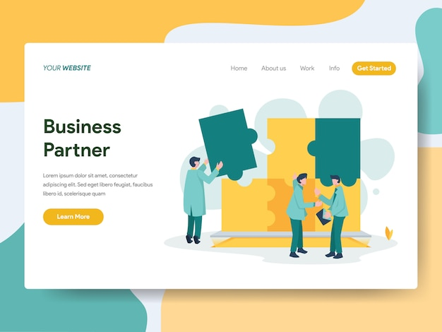 Geschäftspartner für website-seite