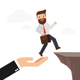 Geschäftspartnerschaft und unterstützung