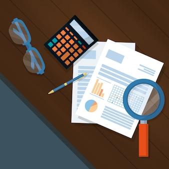 Geschäftspersonalfinanzkarikatur