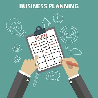Geschäftsplanung hintergrund