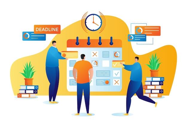 Geschäftsplanung und organisation von aufgaben flach