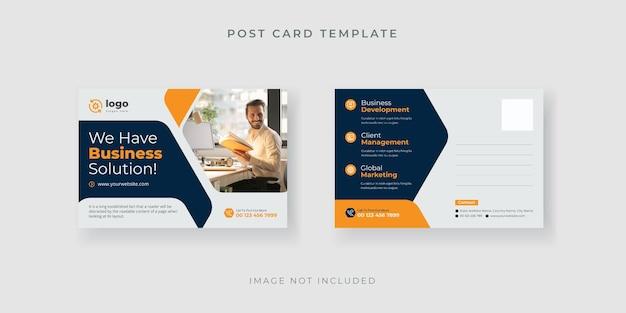 Geschäftspostkartenschablone mit kreativem design premium-vektor
