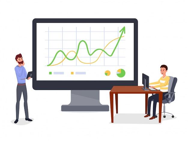 Geschäftspräsentation, bericht