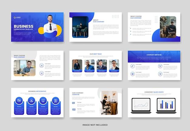 Geschäftsprojektvorschlag powerpoint-präsentationsvorlage oder präsentationsfolie für das firmenprofil