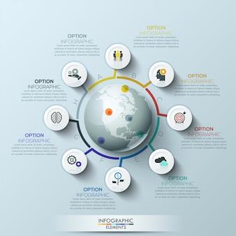 Geschäftsprozess infographik vorlage
