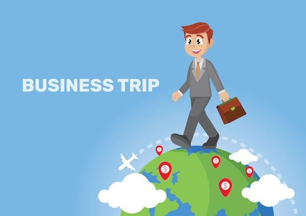 Geschäftsreise und reise um die welt.