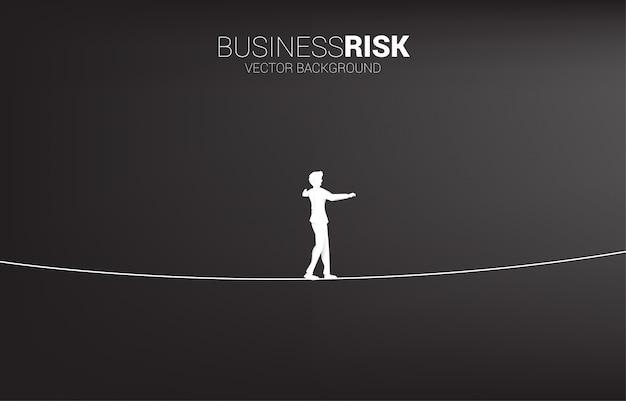 Geschäftsrisiko und herausforderung auf dem karriereweg