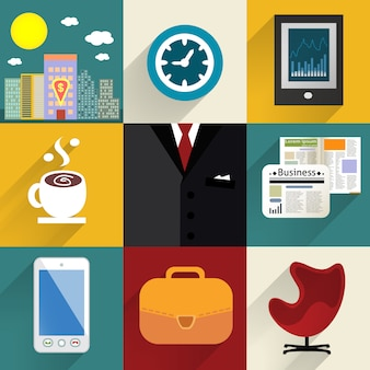 Geschäftssatz generische ikonen