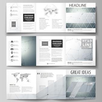 Geschäftsschablonen für dreifachgefaltete quadratische broschüren