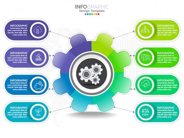 Geschäftsschritt prozessdiagramm infografiken mit schritt.