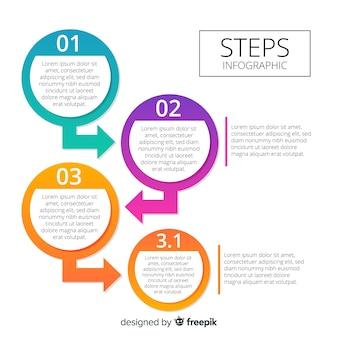 Geschäftsschritte infografik
