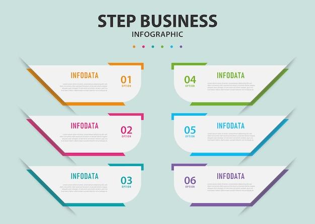 Geschäftsschritte infografiken